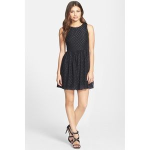 French Connection Polka Sparks Black Dress 4